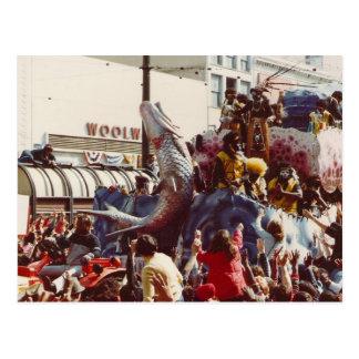 Mardi Gras Zulu Float Postcard