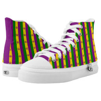 Mardi grass flag pattern High-Top sneakers