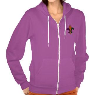 Mardi grass fleur-de-lys hooded pullovers