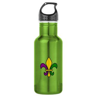 Mardi grass fleur-de-lys water bottle