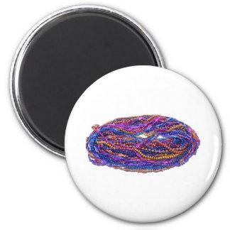 MardiGrasBeads022111 2 Inch Round Magnet