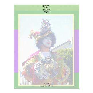 Mardis Gras Clown letterhead