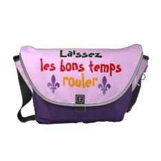 Mardis Gras Let The Good Times Roll Fleur de lys Messenger Bag at Zazzle