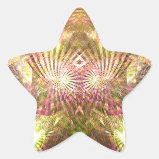 Mardis Gras Sunshine Star Sticker