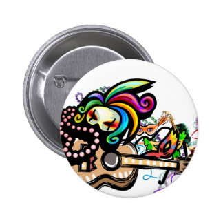 Mardis Gras Ukulele Button