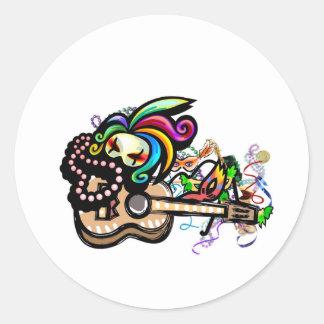 Mardis Gras Ukulele Sticker