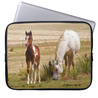 Mare and Colt Lazy Summer Day Computer Sleeves