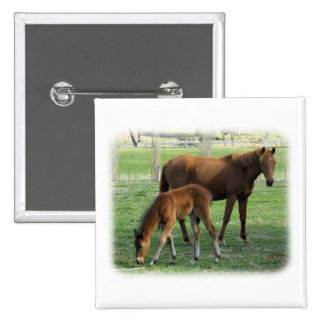 Mare and Foal 9P30D-175 Pinback Button