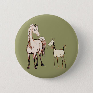 Mare and Foal Button