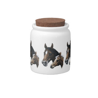 mare and foal candy jar