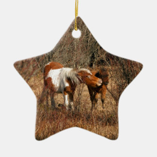 Mare and Foal Christmas Ornament
