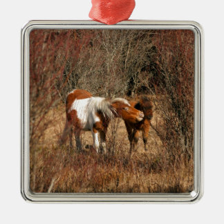 Mare and Foal Christmas Ornaments
