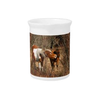 Mare and Foal Drink Pitchers