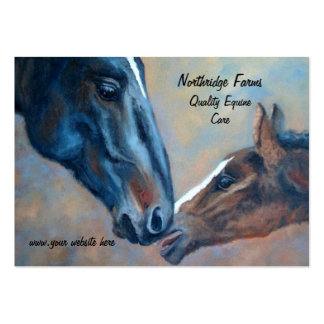 Mare and Foal Fine Art Horse Business Card