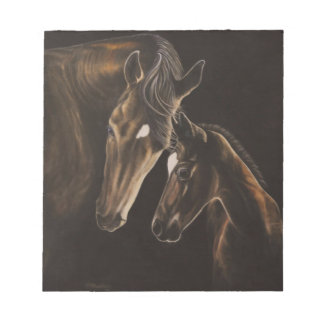 Mare and foal notepad