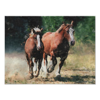 Mare and foal print