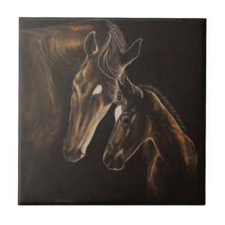 Mare and foal tile