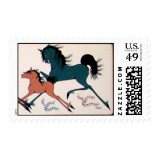 Mare and Foul Postage Stamp