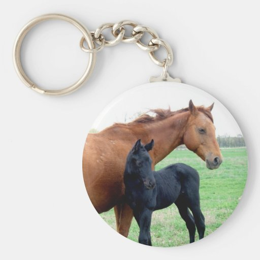 Mare and Her Colt Key Chain