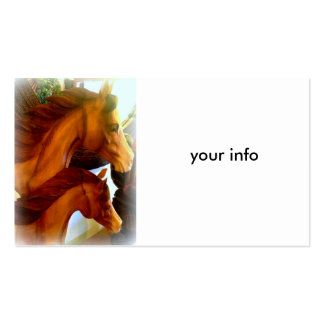 mare and pony business card