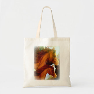 mare and pony tote bag