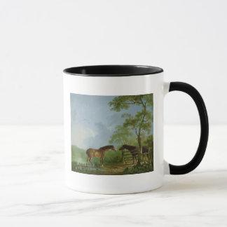Mare and Stallion in a Landscape Mug