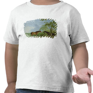 Mare and Stallion in a Landscape T Shirts
