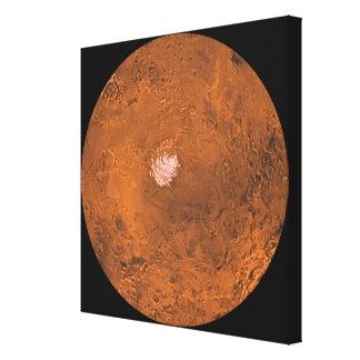 Mare Australe region of Mars Canvas Print