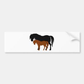 Mare & Colt Silhouettes Bumper Sticker