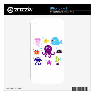 Mare creatures skins for iPhone 4S
