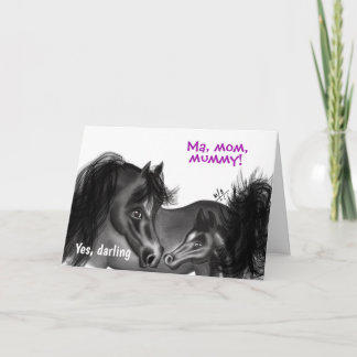Mare & Filly | Ma, mom, mummy Happy Mother's Day Card