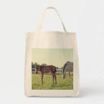 Mare & Foal Horses Grocery Tote