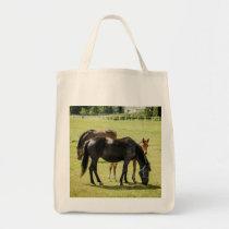 Mare & Foal Horses Tote Bag