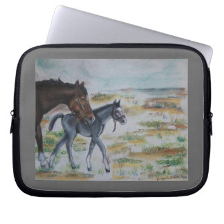 Mare with Foal Electronics Bag Laptop Sleeve