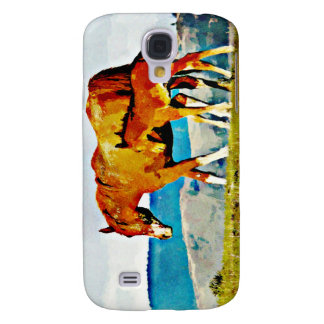Mare with Foal on the Ridge Samsung Galaxy S4 Cover