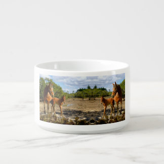 Mare with foals bowl
