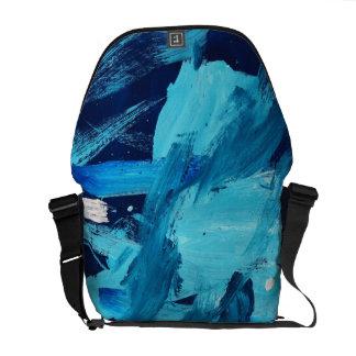 Marea abstracta del océano de la pintura 68 bolsa de mensajeria