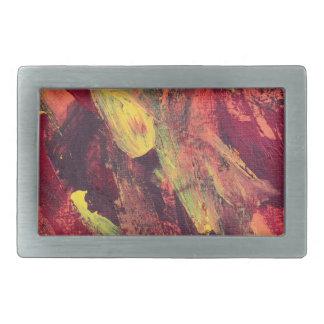 Marea abstracta del océano de la pintura 68 hebilla cinturon rectangular