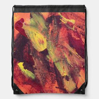 Marea abstracta del océano de la pintura 68 mochilas