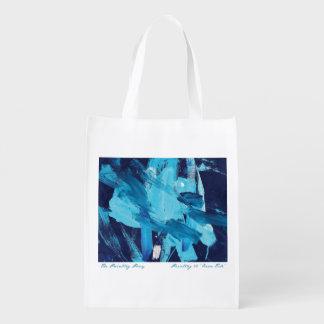 Marea abstracta del océano de la pintura 68 bolsas de la compra