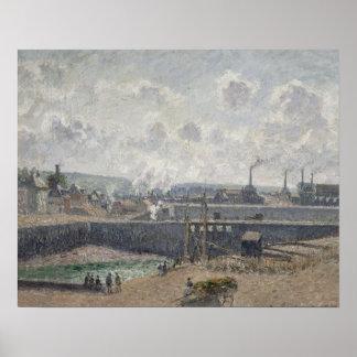 Marea baja en Duquesne Docks, Dieppe, 1902 Póster