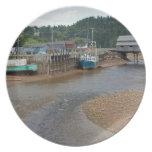 Marea baja en la bahía de Fundy en St Martins, nue Platos