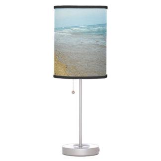 Marea baja en la playa lámpara de mesilla de noche