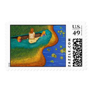 Marea baja sello postal