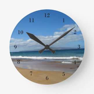 Marea bonita del océano reloj de pared
