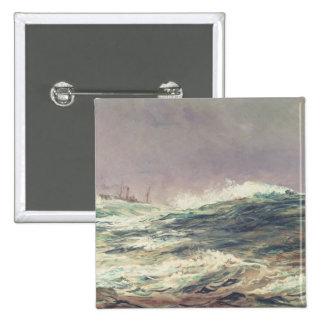 Marea de reflujo, alcance largo, 1881 pin cuadrada 5 cm