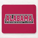 Marea del carmesí de Alabama Tapetes De Raton