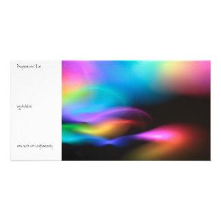 Marea fosforescente tarjetas personales con fotos
