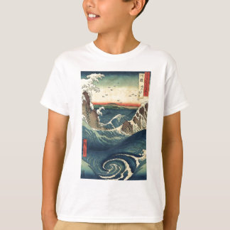 Marea japonesa del océano del vintage elegante camisas
