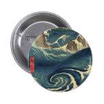 Marea japonesa del océano del vintage elegante pin